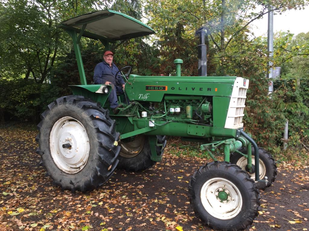 David on his tractor - The 10th Annual Fylde Vintage and Farm Show 2019